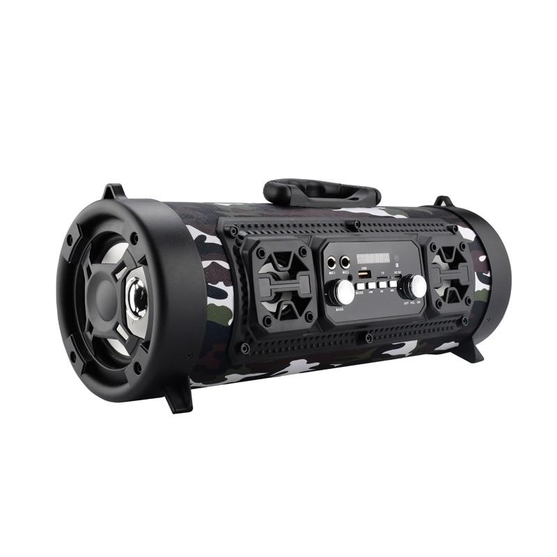 Hifi Portable Bluetooth Speaker FM Radio Move KTV 3D Sound Unit Wireless Surround TV Sound bar Subwoofer 15W Outdoor Speaker+Mic 6