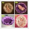 Hot venda pura manual de fundo fotográfico fotografia de recém-nascido adereços bebê cobertores dupla de Stuffer