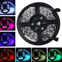 5050 SMD светодио дный гибкая светлая RGB 300 светодио дный s 5 м декоративные лампы Водонепроницаемый и ИК-пульт и Питание Adaper 12 В 6A