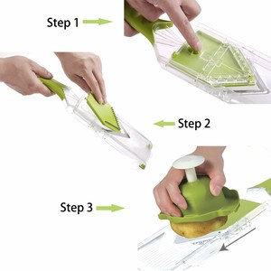 Image 3 - WALFOS Mandoline Slicer Manual Vegetable Cutter with 4 Blade Potato Carrot Grater for Vegetable Onion Slicer Kitchen Accessories