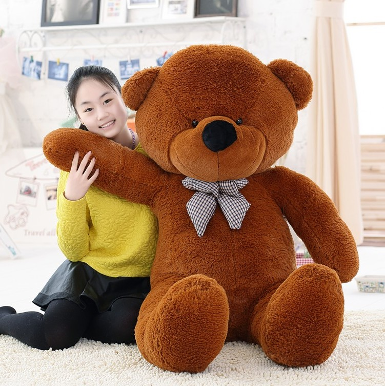 1pc-200cm-Classic-Selling-Toy-Big-Size-Teddy-Bear-Skin-Teddy-Bear-Coat-Good-Quality-Factary (2)