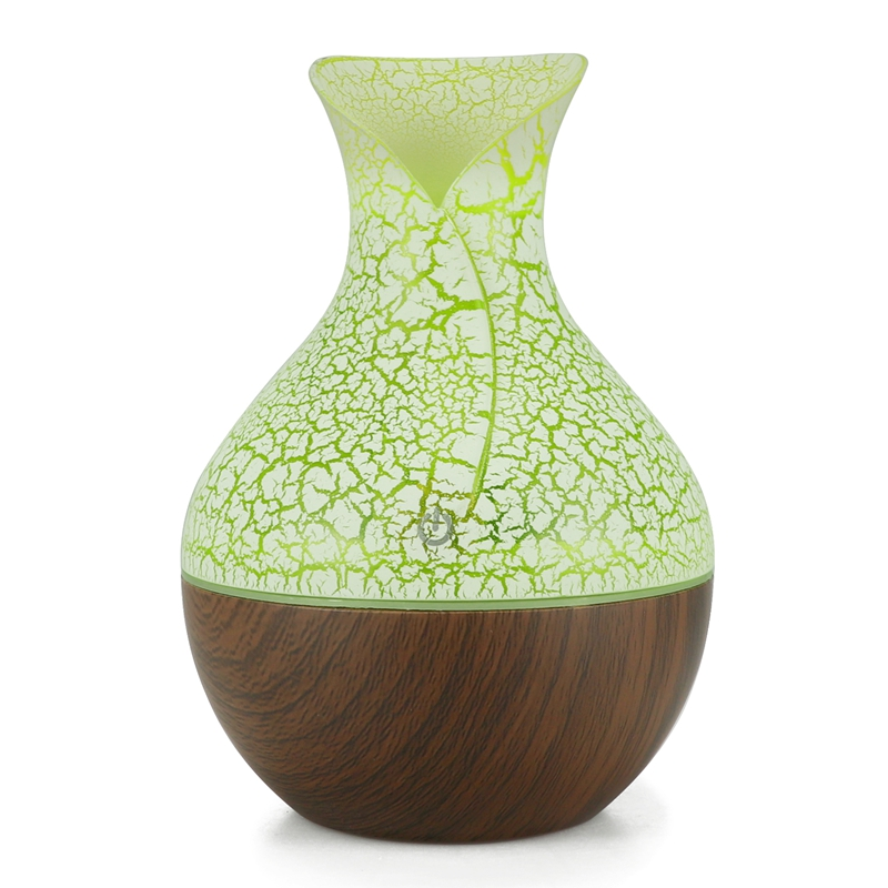 Electric Humidifier Aroma Oil Diffuser Ultrasonic Wood Grain Air Humidifier Usb Mini Mist Maker 7 Color Led Light For Home Off