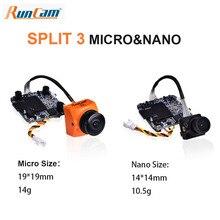 RunCam caméra FPV pour cerceau, Micro/ Nano/Nano Split 3, enregistrement HD, 60fps, 2 mp1080 p, plus WDR NTSC/PAL, commutable