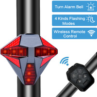 USB Rechargeable Waterproof Bicycle Turn Signal Light Wireless Remote Control Bike Rear Lamp Cycling Taillight Accessories
