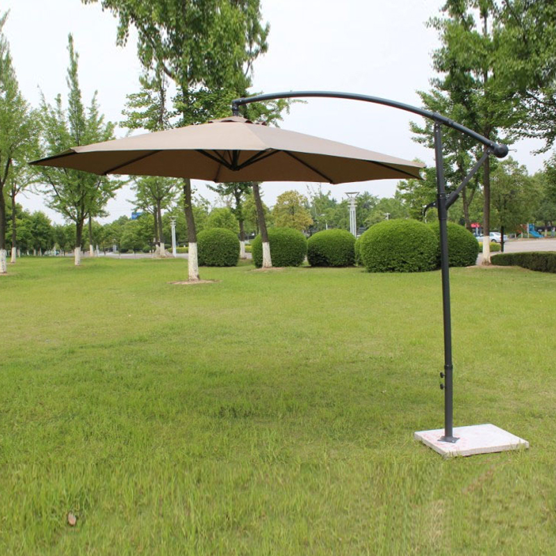 2.7 Meter Steel Iron Promotion Patio Sun Umbrella Garden Parasol Sunshade Outdoor Furniture Covers ( No Stone Base )