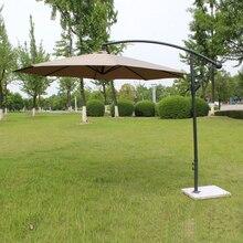Guarda chuva do pátio da promoção do ferro de aço 2.7 metros, guarda sol do jardim, guarda sol, capas de mobília ao ar livre (sem base de pedra)