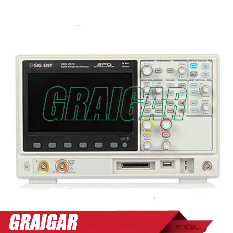 Siglent 28M Deep memory SDS2072 Arbitrary Waveform Generator,70MHz portable oscilloscope,2 channels oscilloscope осциллограф siglent 8 tft lcd 70 2 sds2072 28