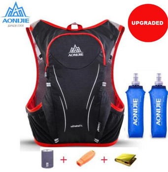 AONIJIE 5L Upgraded Outdoor Running Bag Backpacks Marathon Hiking Cycling Backpack Hydration Upgraded Vest Pack недорого