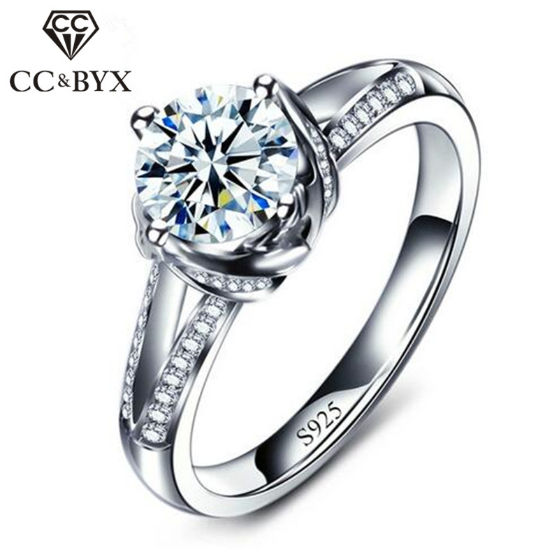 Hot Selling Δαχτυλίδια αρραβώνων για γυναίκες S925 Ασημί Vintage CZ Γαμήλια κοσμήματα Bijoux Anillos Δώρο για εραστή Χονδρική CC098