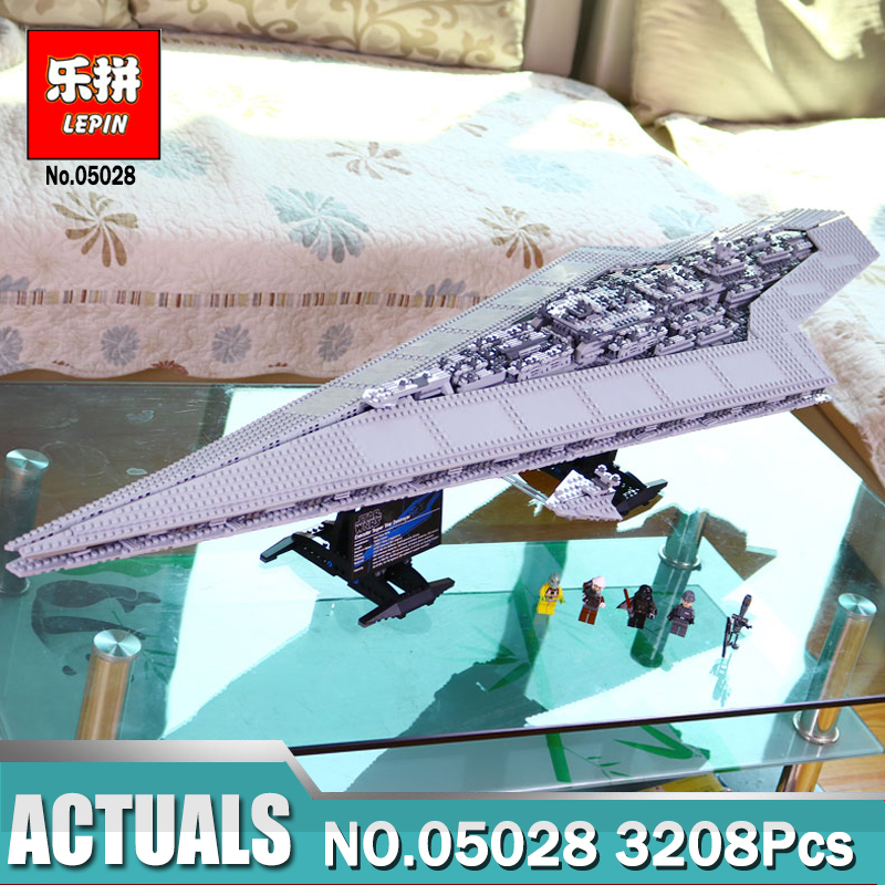 New Lepin 05028 3208pcs Star Wars Execytor Super Star Destroyer Model Building Kit Block Brick Toy Compatible Legoing 10221 05028 star wars execytor super star destroyer model building kit mini block brick toy gift compatible 75055 tos lepin