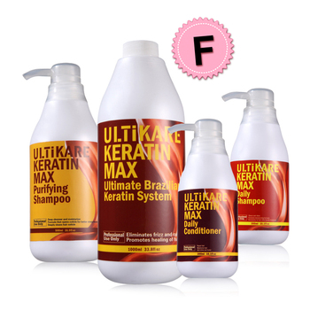 Free Formaldehyde Brazilian Keratin Chocolate Hair Treatment Set Purifying Shampoo & Daily Shampoo And Conditioner Repair Hair