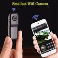 Mini Telefone WiFi P2P IP Câmera DV Filmadora Web Cam Sem Fio esporte do bebê veículo monitor motion detectar gravação de vídeo cartão de tf md81s