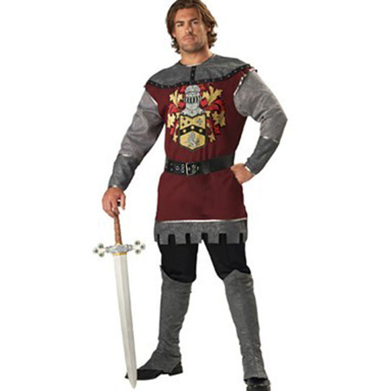 hot men cosplay captain costume,leather historical knight general man cosplay costume 4716