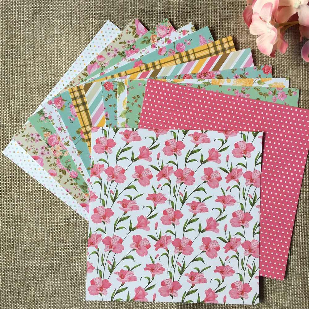 12pcs/Pack 6*6inch Afternoon Tea Time Patterned Paper Pack for Scrapbooking DIY Happy Planner Card Making Journal Project