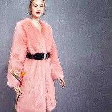 T0361  2000G NAWFASHION LUXURY HIGH QULITY Winter Women COAT Fox Fur Coat Women Clothes FAUX Fur Coat