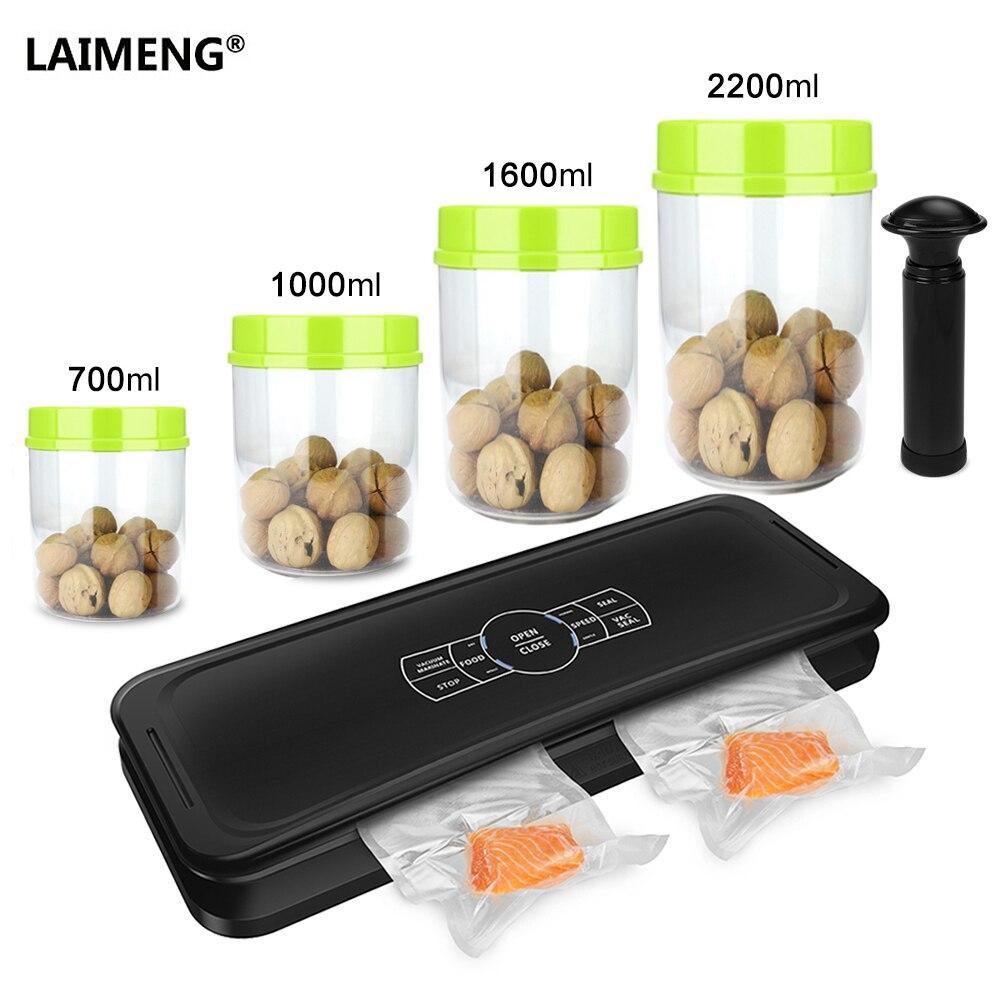 LAIMENG Machine de scellage sous vide automatique scelleur sous vide alimentaire conteneur emballage sacs en plastique cuisine stockage S234