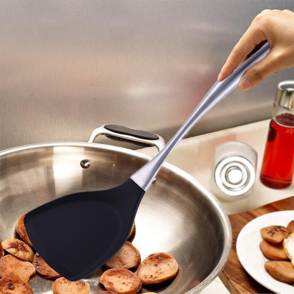 Universale In Silicone Resistente Al Calore Spatola Antiaderente Cena Cibo Wok Pale Per La Cottura, la Cottura e la Miscelazione di Accessori Da Cucina