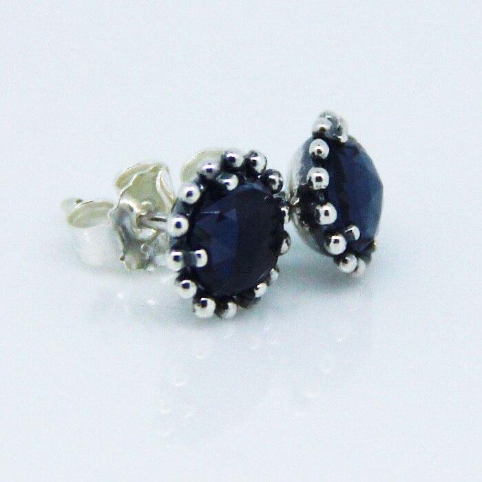 626a5867d czech ckk 925 sterling silver midnight star midnight blue crystal stud  earrings for women original jewelry