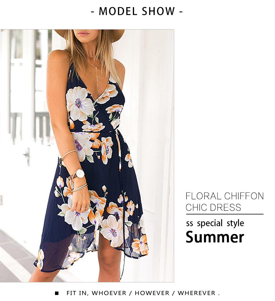 1c9688b26ec8a Kuk 8 Color Boho Dress Summer Floral Beach Dress Tunic Hippie Chic XXL Plus  Size Women Clothing Chiffon Bohemian Vestidos A579