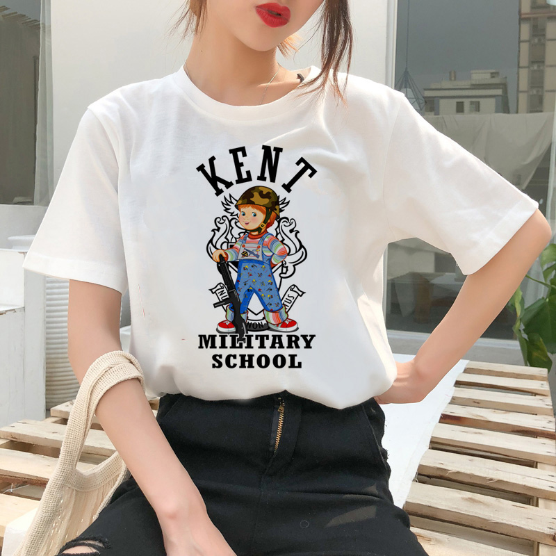 chucky t shirt Horror High cool women top Quality new streetwear tee t-shirt fashion ulzzang female shirts femme new tshirt 9