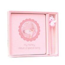 Креативный подарок розовая девочка сердце Ins ветер блокнот Единорог ручка студентов цзи ши бен Цзы День рождения Подарочная книга тетрадь