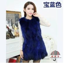 Winter Female Raccoon Fur Vest Long Jacket Real Raccoon Fur Coat Woman Genuine Natural Fur Warm Ladies Real Fur Coat Gilet