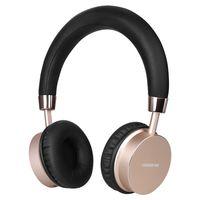 IKANOO Gold Aluminum Alloy K5 Bluetooth Wireless Headset Size 19 17 8CM