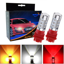 led Bulbs 3056 3156 3057 3157 p27/7w T25 Cree LED Chips -For car Rear Brake Lights Turn Signal Tail Lamps - Yellow/Amber