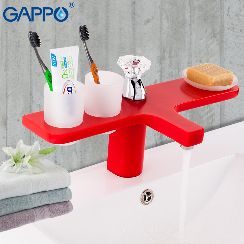 GAPPO Basin faucets bathroom deck mounted sink mixer taps waterfall bathroom mixer faucets mixer water taps