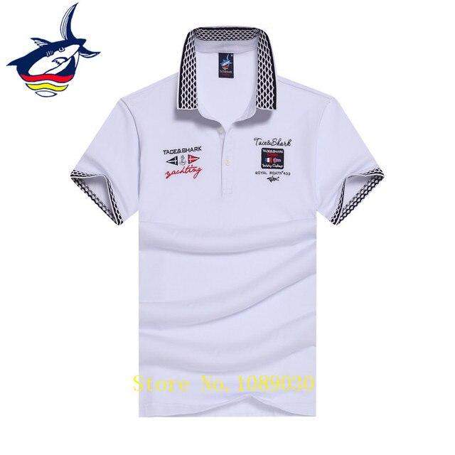 Camisa polo  homens Tace   Shark marca camisa polo top qualidade do algodão  respirável cor 2d4744f7cb309