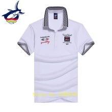 1447b88c5 Camisa polo 'homens Tace & Shark marca camisa polo top qualidade do algodão  respirável cor sólida bordado ocasional camisa pólo .