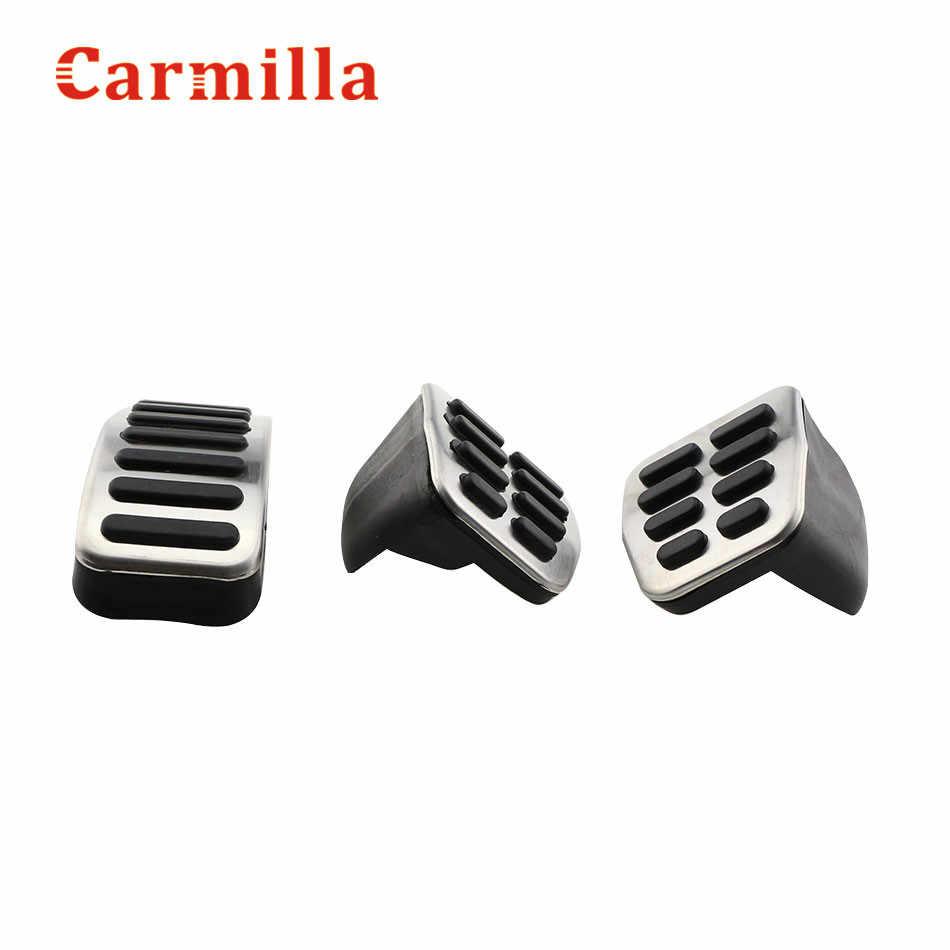 Carmilla samochód ze stali nierdzewnej gazu hamulca pedały dla Audi TT nożny pedał fotel vw Golf 3 4 Polo 9N3 dla SKODA Octavia Ibiza Fabia GTI