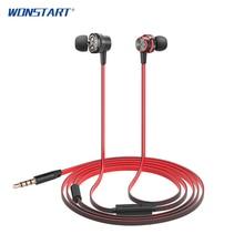 2017 Wonstart IE05 Sport Magnet Headset 3.5 mm fone de ouvido In-ear Earbud Earphones With Mic For Iphone 7/7s
