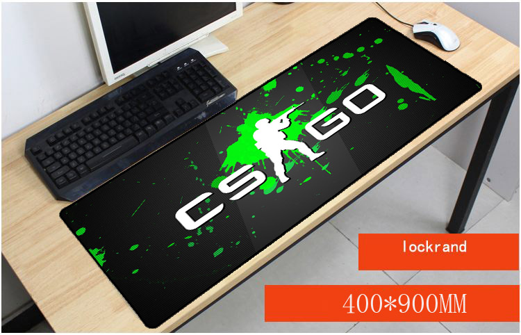 Yuzuoan Free Shipping CS GO Mouse Pad pad Black Overlock Edge Big Gaming Table mouse Pad ...