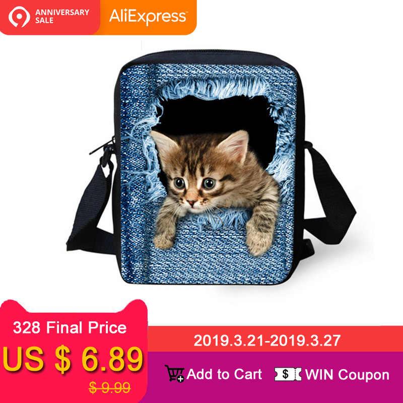 736fac2fa0ba FORUDESIGNS/женские сумки-мессенджеры с 3D джинсовым животным принтом, сумка  через плечо с