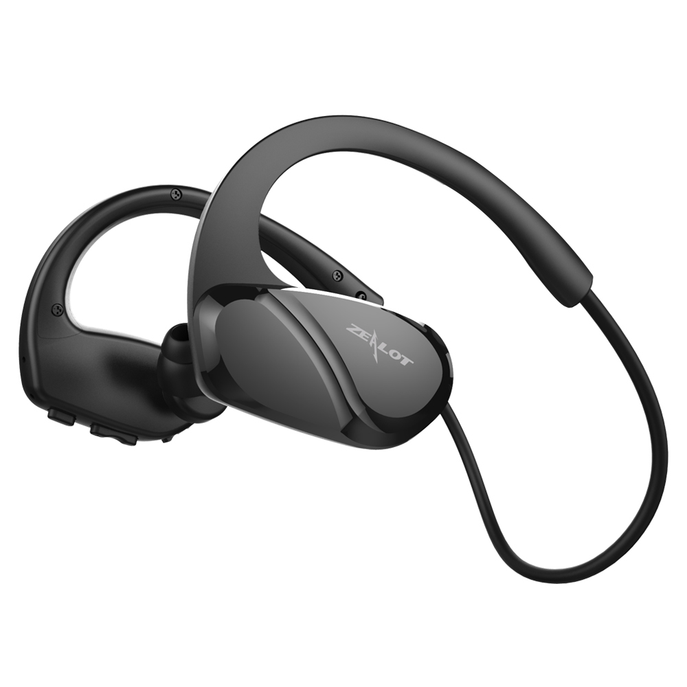 ZEALOT H6 Waterproof Bluetooth Earphone Hifi Stereo Wireless Headphone Fitness Sport Running Use Handsfree With Microphone syllable a6 bluetooth 4 1 stereo earphone neckband wireless hifi music headset handsfree sport headphone with microphone