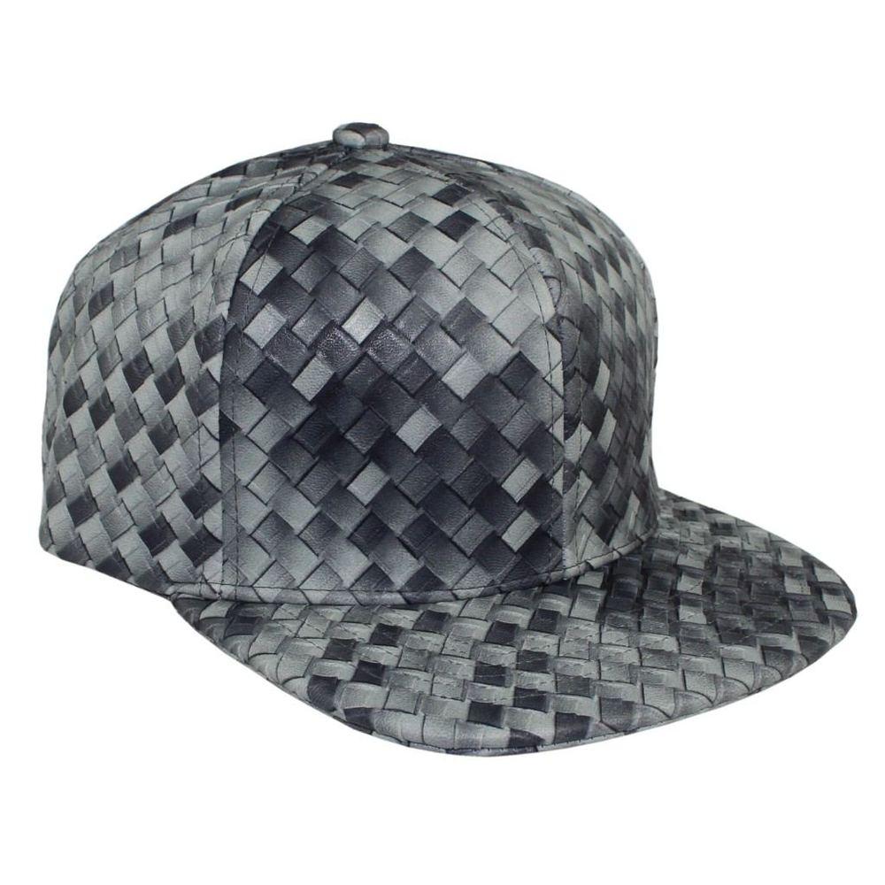 Bboy в стиле хип-хоп Танцы Шапки и шляпа бейсболка Человек Женщины Креста Ткань Кожа Cap Летний плед дизайн открытый ВС шляпы Повседневная 7 видов цветов - Цвет: Серый