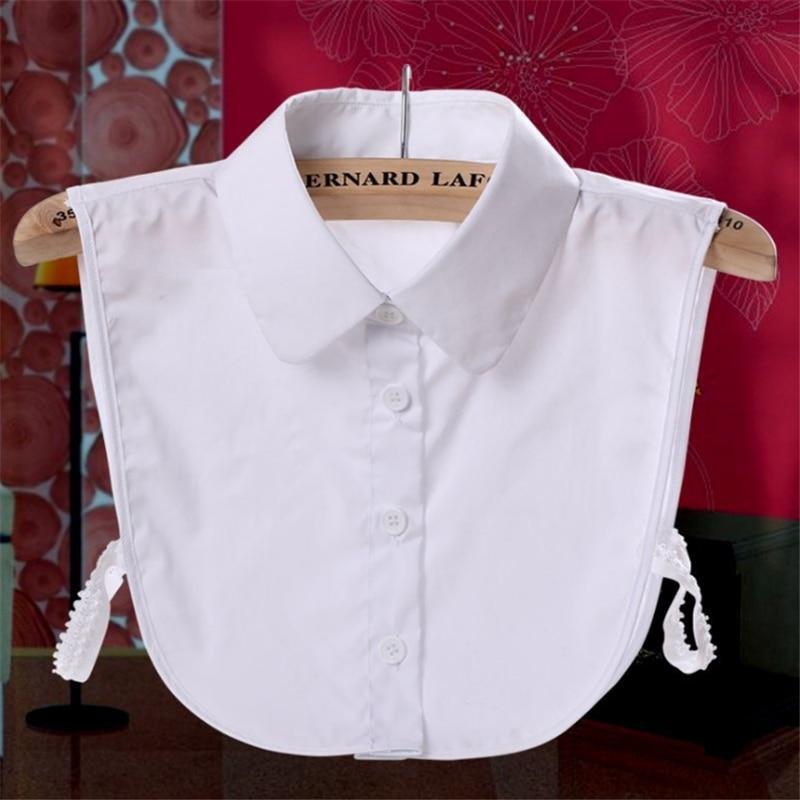Ladies Women Adult Detachable Lapel Shirt Fake Collar Fashion Solid Color False Blouse Neckwear Clothing Accessories