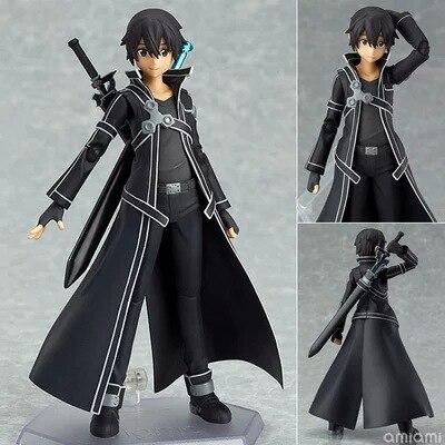 2015 Japanese Anime Figures Sword Art Online Pvc Kirigaya Kazuto Cartoon Hot Toys 15cm Kid Gift Collection Models