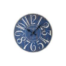 Artistic Silent Retro Creative European Style Round Blue Vintage Rustic Decorative Antique Wooden Home Wall Clock F2-18L