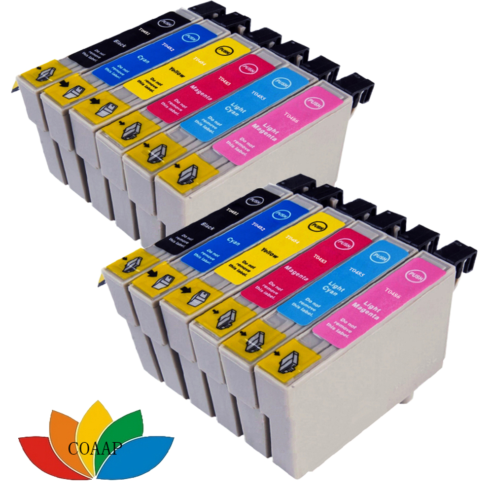 12 INK CARTRIDGES REPLACE T0481-T0486 T0487 FOR <font><b>EPSON</b></font> Stylus Photo <font><b>R200</b></font> R220 R300 R300M R320 R340 Printer image