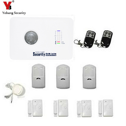 YobangSecurity Wireless GSM SMS Home Burglar Security Alarm System Home Emergency Alert Security Alarm System Door Sensor Kit diy touch keypad wireless gsm sms autodial smart home security burglar alarm system smoke sensor voice pir emergency