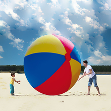 2M Oversized Inflatable Beach Ball Water Polo Ball Toys Outdoor Swimming Activities Decorative Props Fun Sport Toys Party Favors