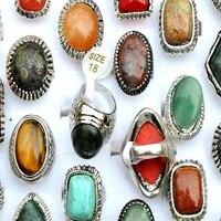 แบรนด์ใหม่วินเทจบิ๊กธรรมชาติหินธรรมชาติหินสำหรับผู้หญิงยอดขายสไตล์หรูหราพรรคแหวนขายส่...