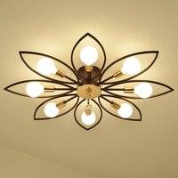 Гостиная Свет Современный хрустальный светильник простой светодио дный светодиодный потолочный светильник круглый спальня потолочный св