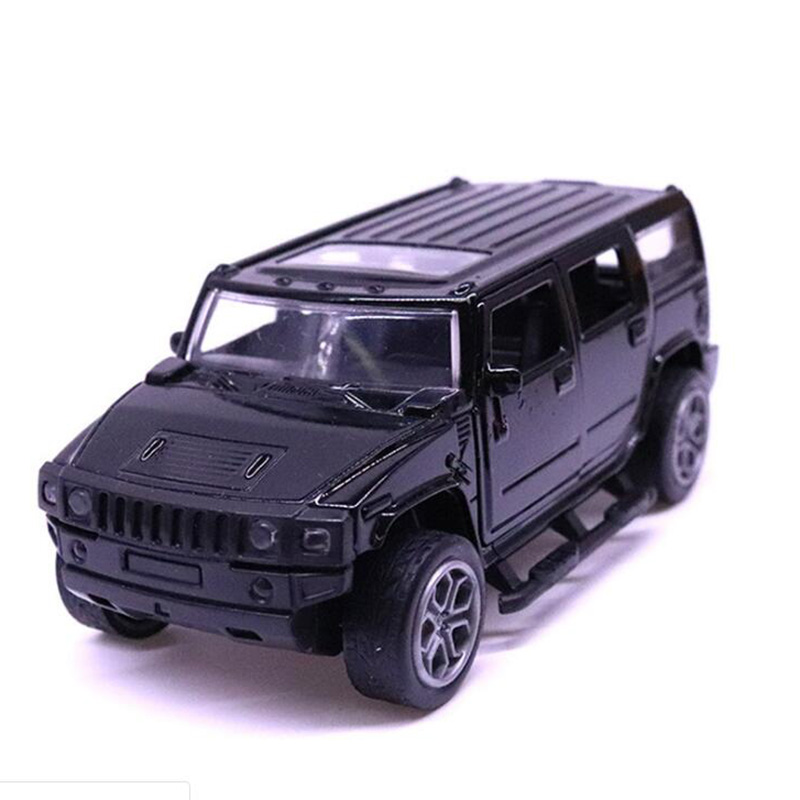 11.5CM 1:32 Scale Metal Alloy Classic Hummer H3 SUV Off Road Auto Car Model Pull Back Model Diecast Vehicles Toys F Kids Gifts