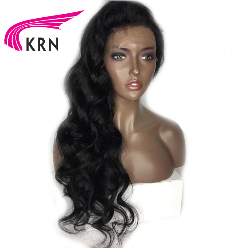 KRN Body Wave Lace Front Human Hair Wigs With Baby Hair 130 Density Remy Hair Pre Plucked Brazilian Lace Wigs Bleached Knots