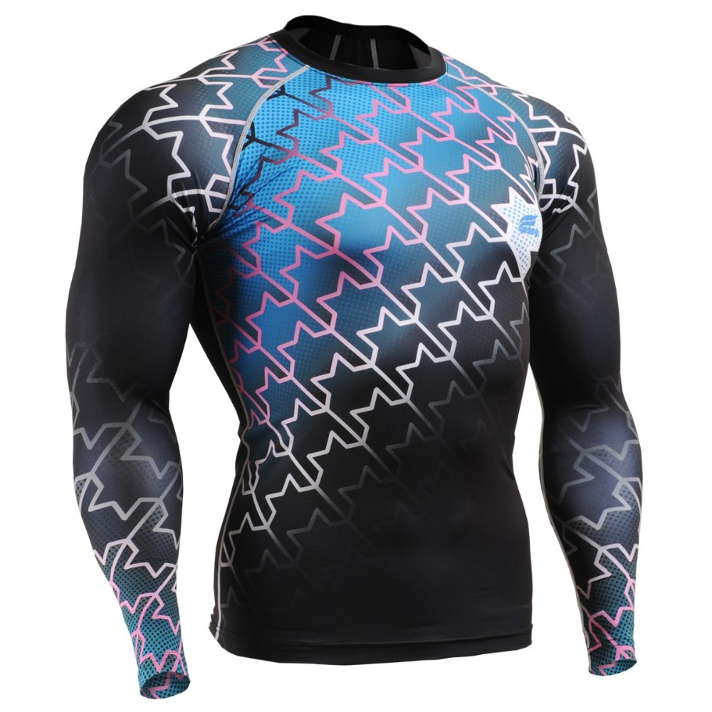 Mens Fitness Professional Compression Shirts Base Layer Workout Print Tee MMA Boxing Bodybuilding T-Shirt Sweatwears Rush Guard professional fitness boxing pear speed ball set boxing punching speed bag base set accessory pera boxeo training equipment tools
