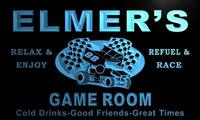 X0218 Tm Elmer S Pit Stop Game Room Custom Personalized Name Neon Sign Wholesale Dropshipping