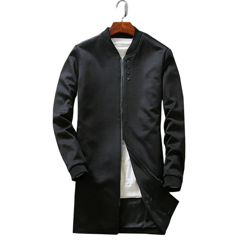In the autumn of 2017 the new men s long sleeve coat dust coat collar jacket
